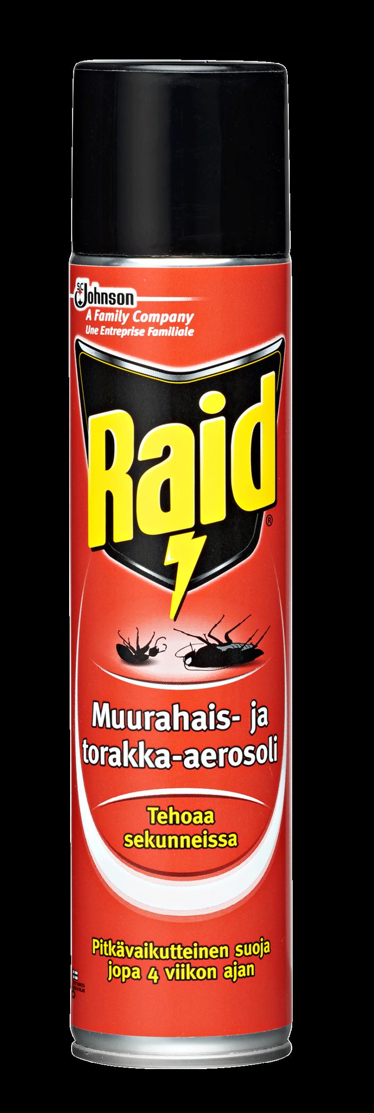 Muurahais-ja torakka-aerosoli ja torakoiden torjunta